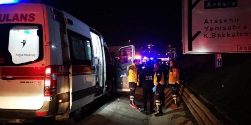 Ataşehir tem otoyolu'nda kaza!