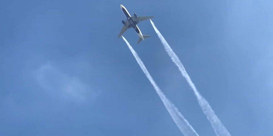 Yolcu uçağı yakıtını ilkokulun üstüne boşalttı!