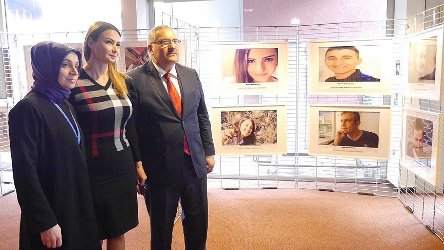 Avrupa Konseyinde 'Yüzler' sergisi açıldı