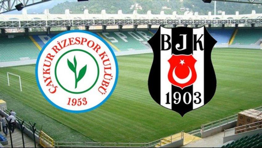Beşiktaş'ın Çaykur Rizespor karşısındaki 11 belli oldu
