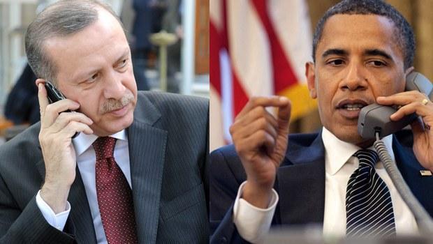 Obama ve Erdoğan'dan telefonda görüştü