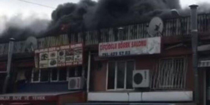 Esenyurt'ta sanayi sitesinde yangın çıktı