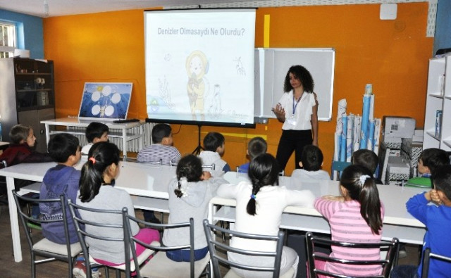 Çocuklar Mavi Denizler hayal edip proje üretti