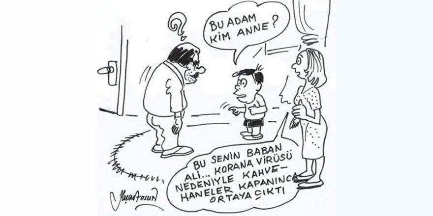 """Bu karikatür paylaşım rekoru kırdı: """"Kahvehaneler kapatılınca..."""""""