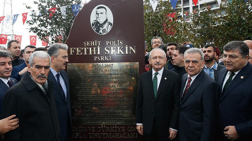 Şehit Polis Fethi Sekin Parkı açıldı