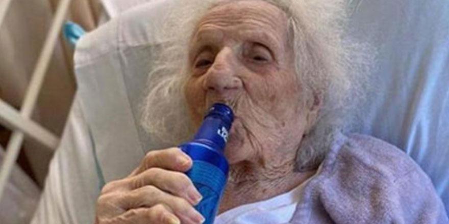 103 yaşında korona virüsü yendi, ilk isteği bira oldu