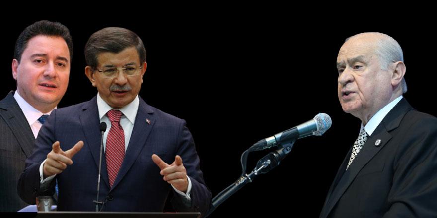 Devlet Bahçeli cephesinden Ali Babacan ve Ahmet Davutoğlu'na çok konuşulacak teklif