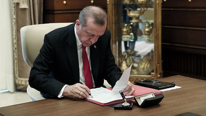 Cumhurbaşkanı Erdoğan'dan referandum onayı