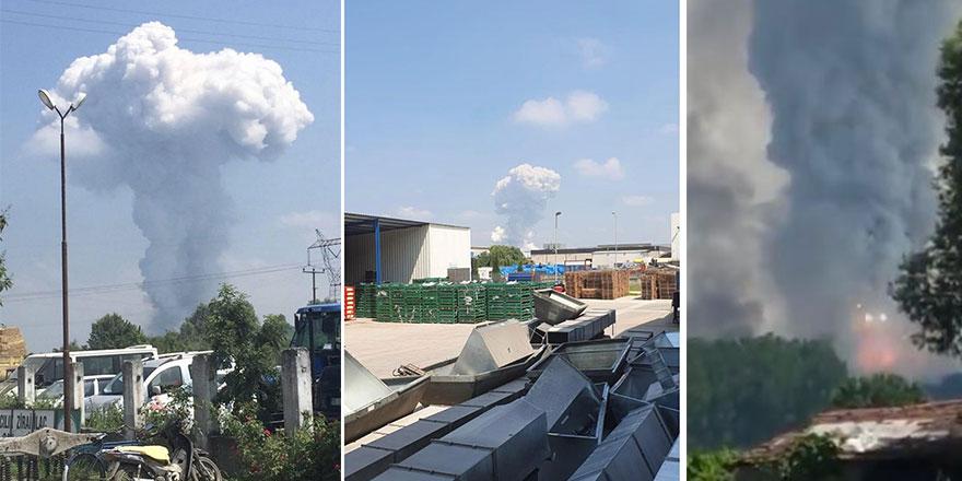 Sakarya Hendek'te bulunan fabrikada korkutan patlama