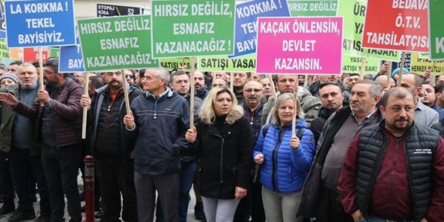 Tekel esnafı İstanbul'dan Ankara'ya yürüyecek